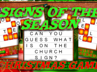 Signs of the Season Christmas Game